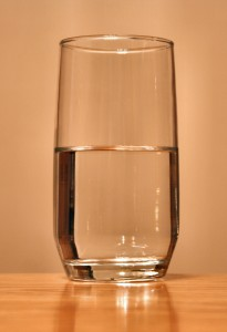 HALF A GLASS OF WATER